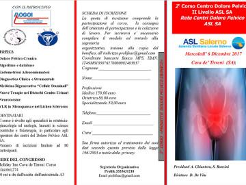 2 ° Corso formativo del Centro di II° Livello del Dolore Pelvico cronico dell'ASL SA