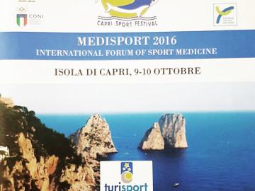 """MEDISPORT"" 2016: International forum of medicine from prevention to care."